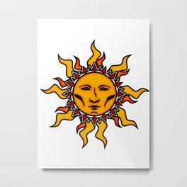 Sublime Sun #2 Psychedelic Character Design Logo Metal Print