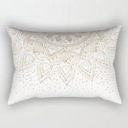 Elegant Gold Mandala Confetti Design Rectangular Pillow