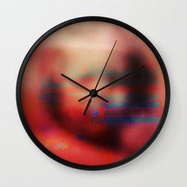 Ghost Glitch Wall Clock