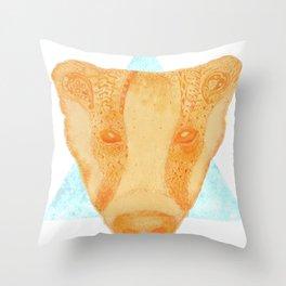Native Aztec Badger Throw Pillow