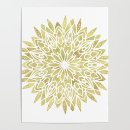 Mandala Yellow Sunflower Poster