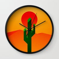 desert Wall Clocks featuring Desert by Bakus