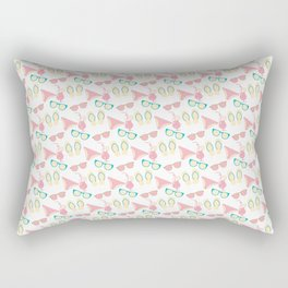 Beach clothes and drinks pattern Rectangular Pillow