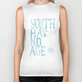 Youth Has No Age (Blue) Biker Tank