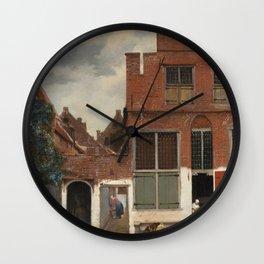 Johannes Vermeer - The little street Wall Clock