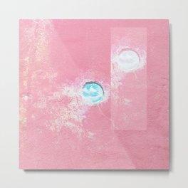 Pink Concrete Metal Print