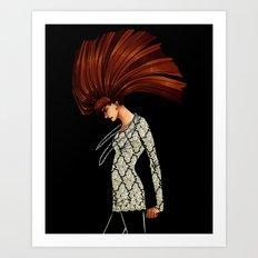 Lady Grinning Soul Art Print