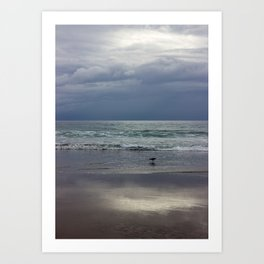 Rainy Day at Strands Beach, California Art Print