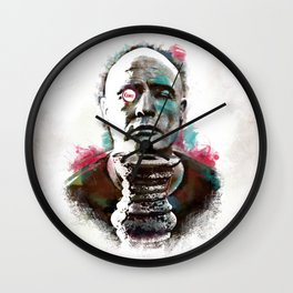 Marlon Brando under brushes effects Wall Clock