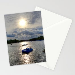 Paddleboats in Hyde Park Stationery Cards