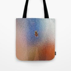 Winter Bee spy on the glass Tote Bag