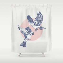Sparrows II Shower Curtain