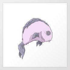A purple fish Art Print