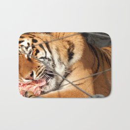 Zoo animals in cages and aviaries Bath Mat
