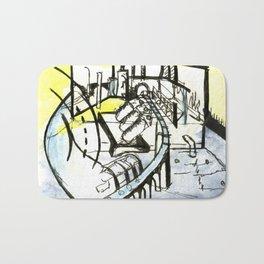 Industrial Landscape Bath Mat