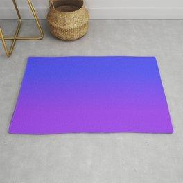 Neon Purple and Bright Neon Blue Ombré Shade Color Fade Rug
