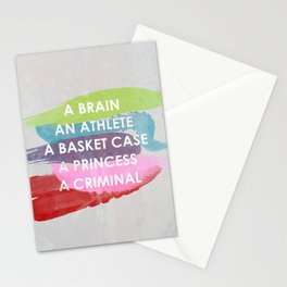 Sincerely yours, The Breakfast Club. Stationery Cards
