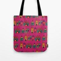 india Tote Bags featuring India by cactus studio