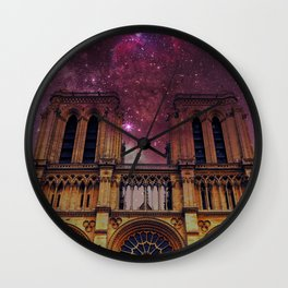 Space Notre Dame Wall Clock