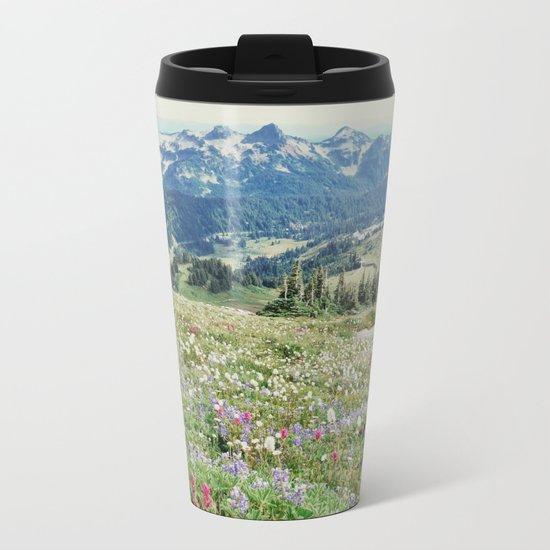 Wildflower Meadow Metal Travel Mug
