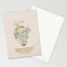 A Traveler's Heart + Quote Stationery Cards