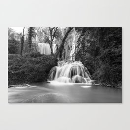 Waterfalls in the stone monastery Canvas Print