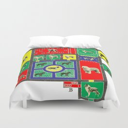 THE DOG HOUSE IV - WITH COLORS ALT. PLAN Duvet Cover