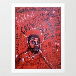 sonderson,brent faiyaz,poster,art,wall art,decor,music,rnb,lyrics,colourful,colorful,cool,dope,post Art Print