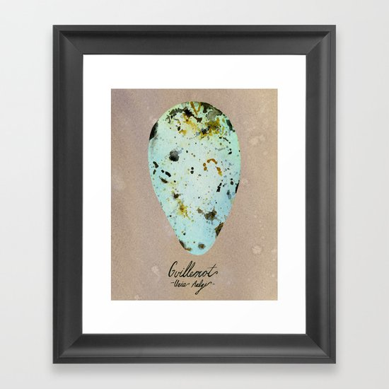 GUILLEMOT EGG Framed Art Print