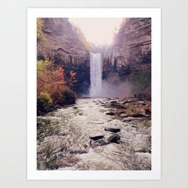 Tranquil Waterfall: Taughannock Falls, NY Art Print