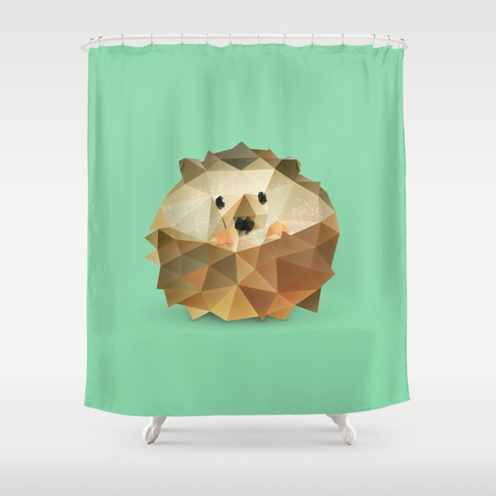 Hedgehog Shower Curtain By Dianadachille