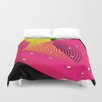 strawberry Duvet Covers featuring Strawberry  by deedesigns