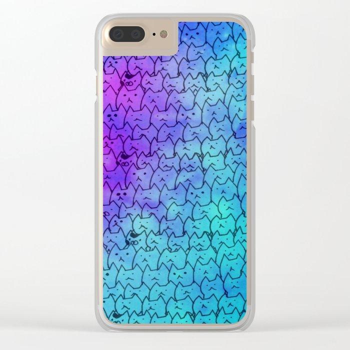 cat-271 Clear iPhone Case