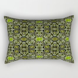 Elegant Vintage Geo Floral Rectangular Pillow