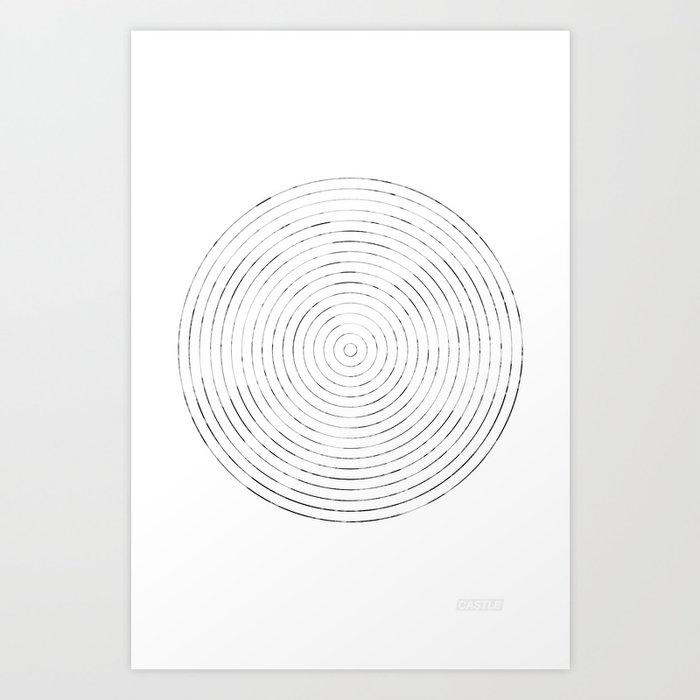 GEOMETRIC MARKS // CASTLE Art Print