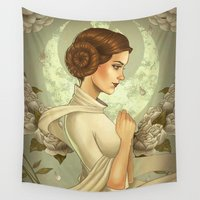 leia Wall Tapestries featuring Princess Leia by trevacristina