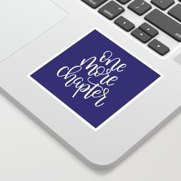 One More Chapter (blue) Sticker