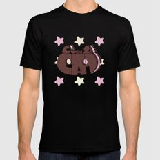 Cookie cat steven universe X-LARGE Black Mens Fitted Tee