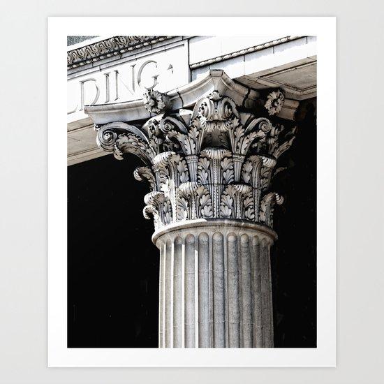 Classic architectural column Art Print