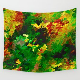 Emerald Forms Abstract Wall Tapestry