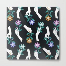 Grasping Flowers Metal Print