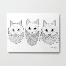 Cats With Beards Metal Print