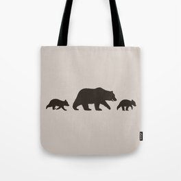Grizzly Bear Family Tote Bag