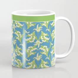 Vintage-style Lily-of-the-Valley Pattern Coffee Mug