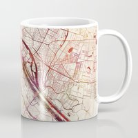 vienna Mugs featuring Vienna by MapMapMaps.Watercolors