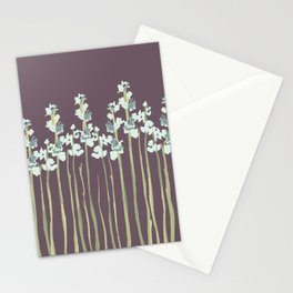 Marshmallows in Purple Stationery Cards