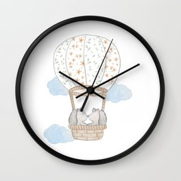 Squirrels in Balloon Wall Clock