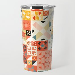 Modern Quilt Pattern Travel Mug