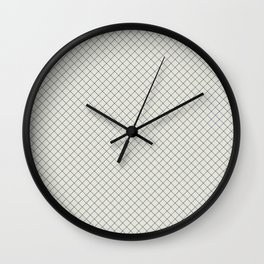 Blue & Linen White Angled Grid Line Pattern Pairs To 2020 Color of the Year Chinese Porcelain Wall Clock
