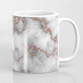 Hot Foil Rose Gold Marble Design  Coffee Mug